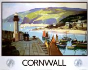 Cornwall, GWR, English Railway Travel Poster Art Print by Leonard Richmond
